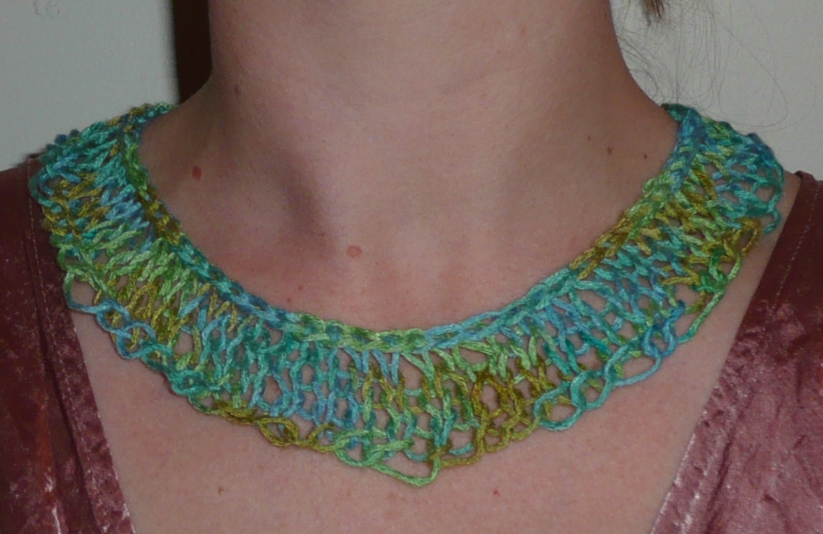 The Sea Foam Knitted Necklace...