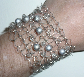 Silver Knitted Bracelet   Epheriell Designs
