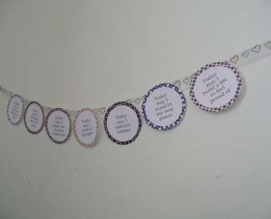 Affirmation Cards Wall