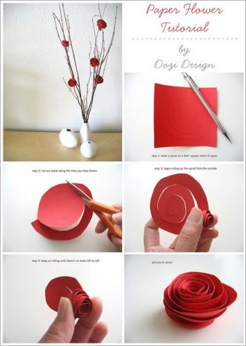 Paper Flower Tutorial – so simple!
