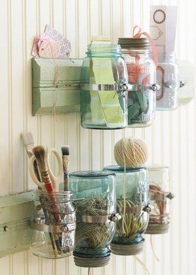Mason Jar Craft Storage!