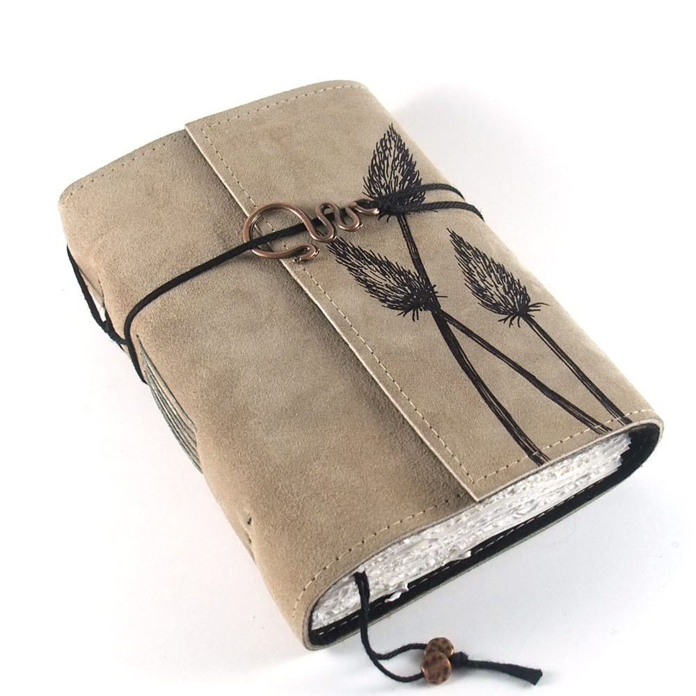 how to make a handmade leather journal