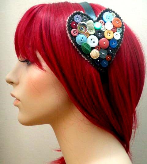 Win 1 of 5 Handmade Vintage Button Headbands!