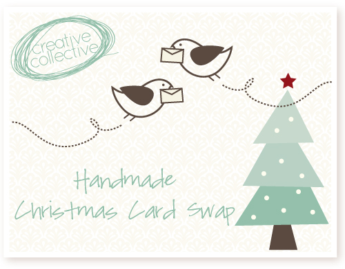 handmade christmas card swap creative collective - How To Sign A Christmas Card