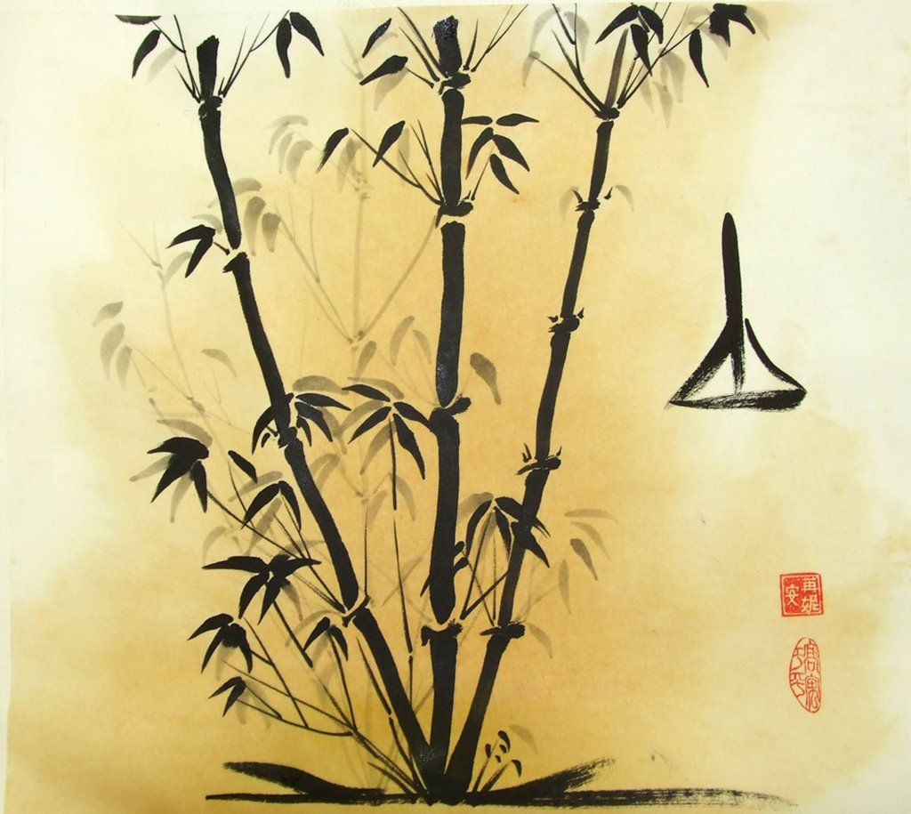 Wall Paint Bamboo Design : A year of craft ren adams traditional chinese painting