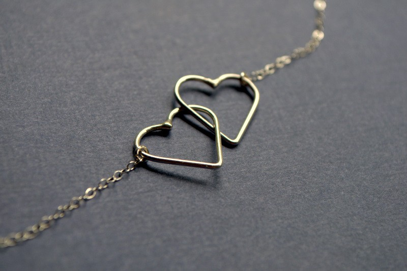 hearts entwined  necklace by epheriell