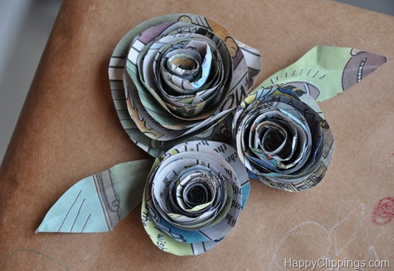 Tuesday Tute ~ DIY Newspaper Gift Bows