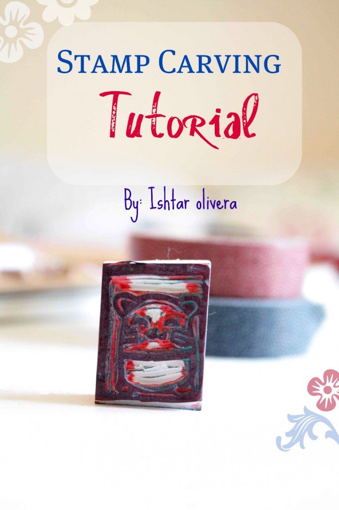 Diy stamp carving tutorial by ishtar olivera epheriell