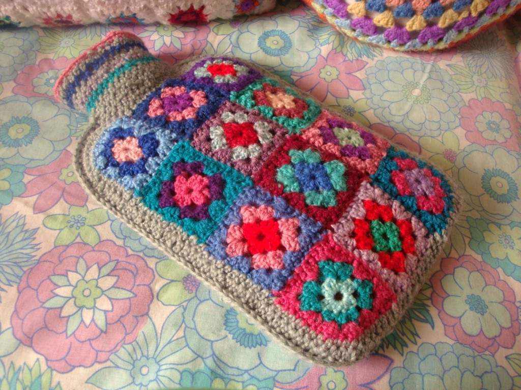 Crochet Granny Square Hot Water Bottle Cover Pattern : Stuff and Things {Links you ll Love} Epheriell Designs