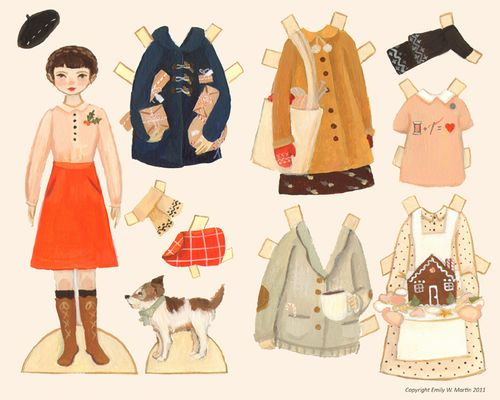 Today I Like… {17/12/11}… The Black Apple Paper Dolls (and they're free).
