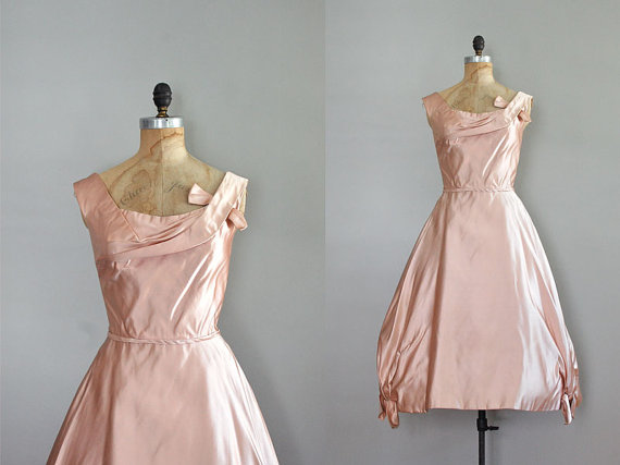 Today I Like… {16/1/12} Blush Pink Silk 1950s Party Dress