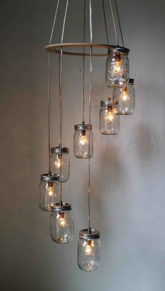 Best uso & Diy Mason Jar Chandelier at Home and Interior Design Ideas
