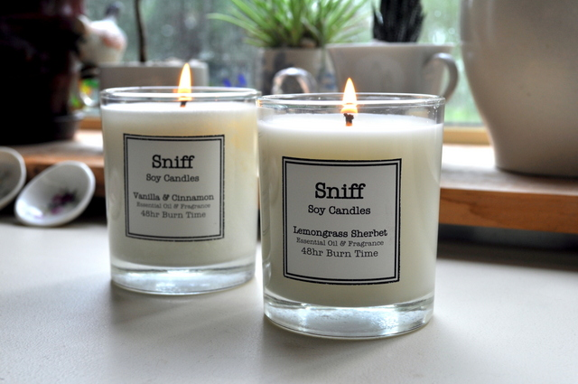 I Have Fallen in Love with Sniff Soy Candles {Review}
