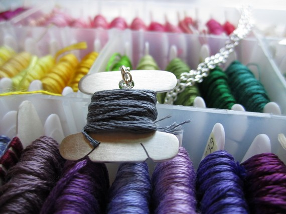 Today I Like… {11/4/12} Mini Sterling Silver Spool Necklace