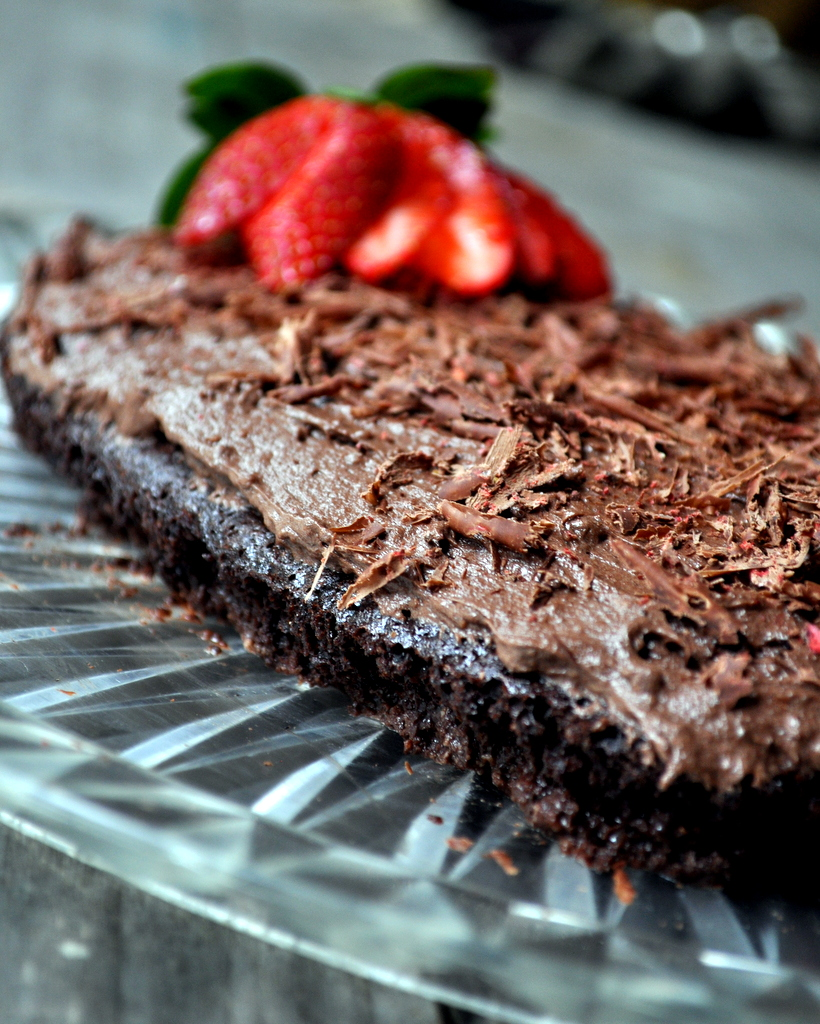 Chocolate Almond Meal Cake Butter Buttercream Frosting