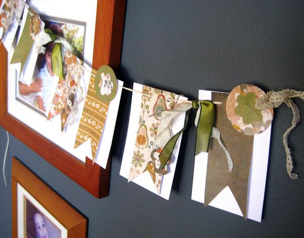 Embellished Paper Garland ~ Paper Scrap Craft by Special Guest Blogger Anastasia C