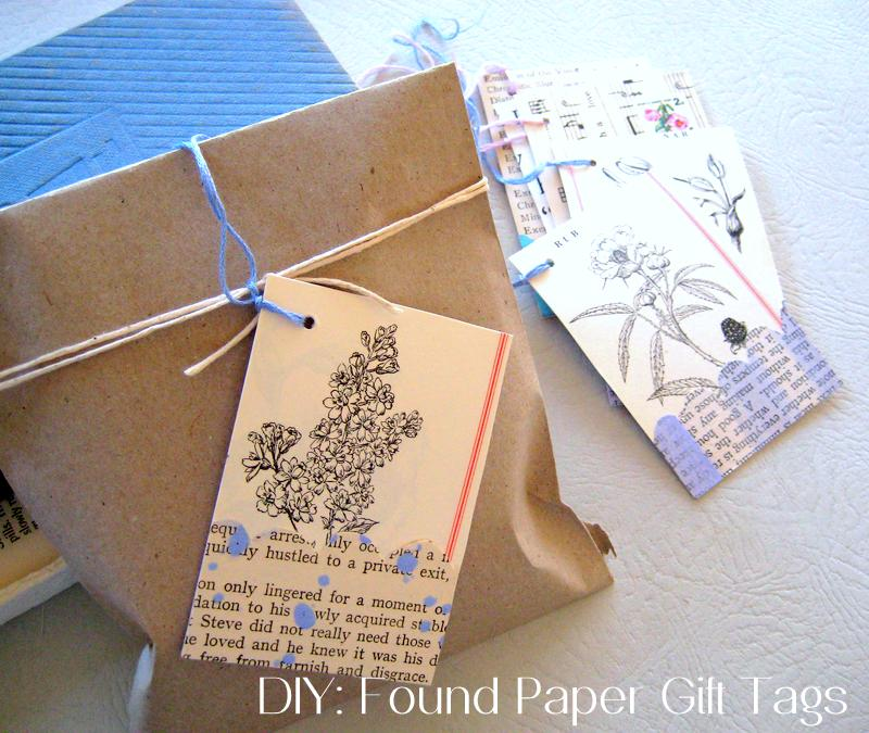 'Found' paper Gift Tags ~ Paper Scrap Craft by Special Guest Blogger Anastasia C