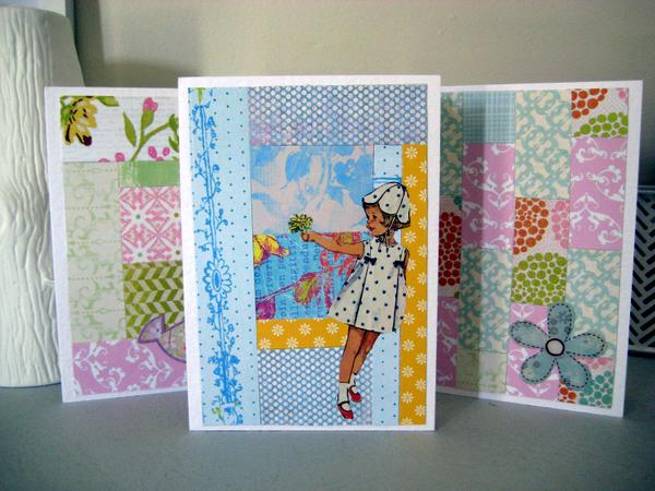 Paper Quilt Greeting cards ~ Paper Scrap Craft by Special Guest Blogger Anastasia C