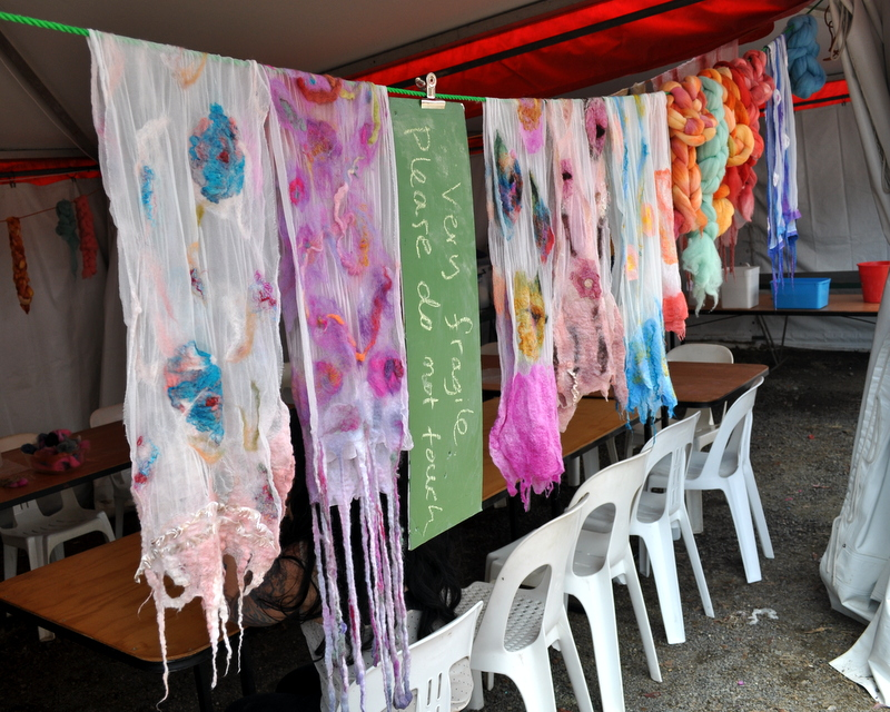 The Making of my First Nuno Felted Scarf ~ Woodford Folk Festival Artisania Workshop