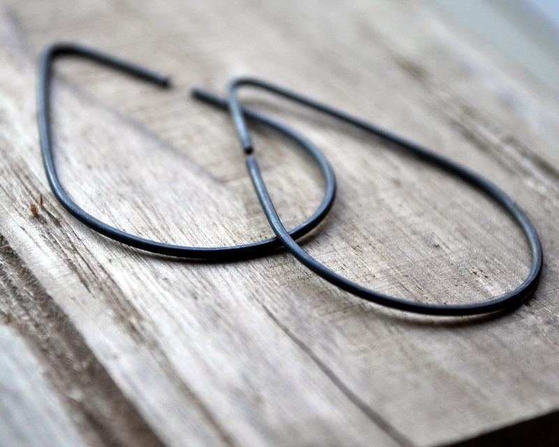Raindrops Oxidised Urban Eco Earrings (7)