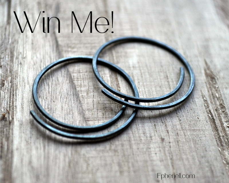March Giveaway – Oxidised Half-Spiral Earrings