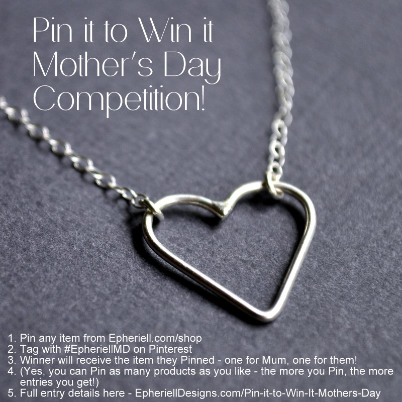 Pin it to win it for Mother's Day