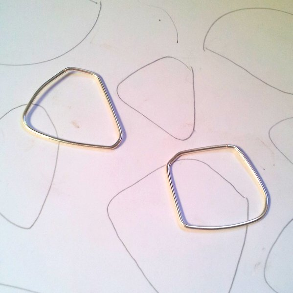 What I'm working on… Asymmetrical, 2-Tone Necklaces