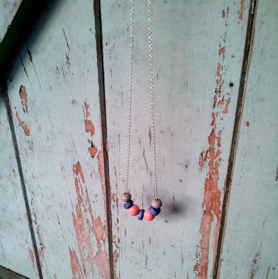 Pastel Blue and Pink Necklace (7)