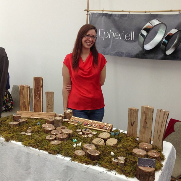 jess at the epheriell market stall - photo by BrisStyle