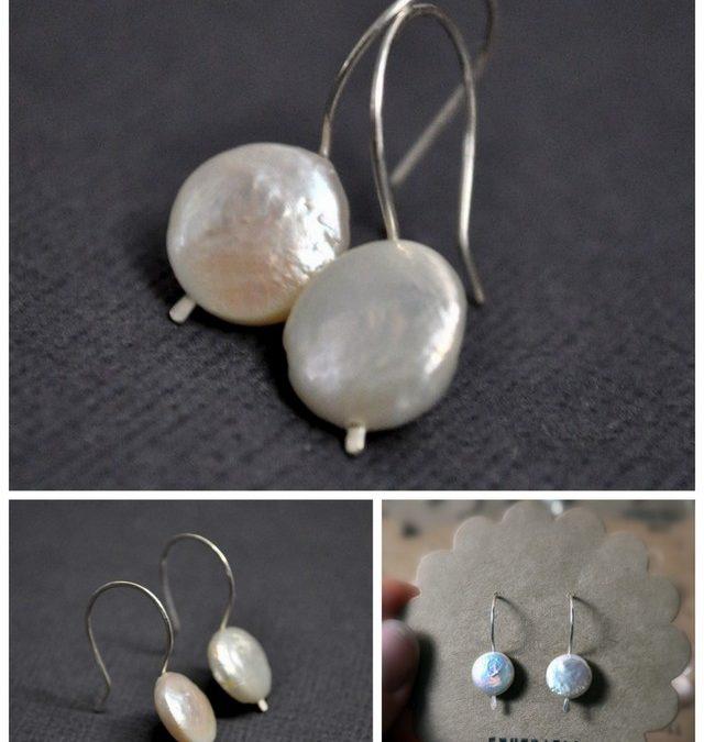 Weekly Special ~ Coin Pearl Earrings