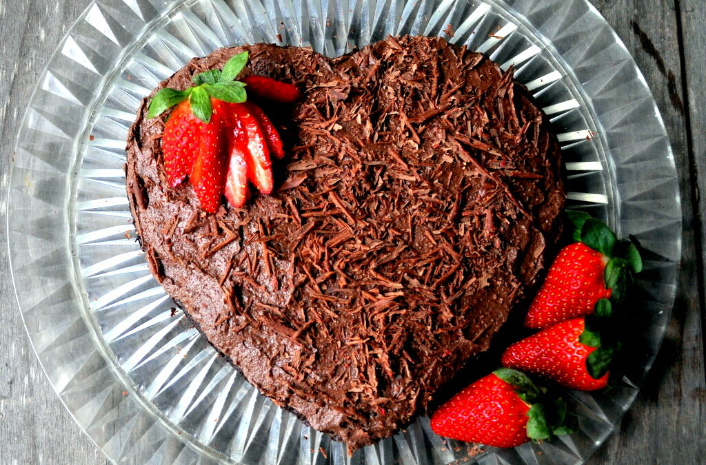 Flourless Chocolate Cake Recipe with Ghee Buttercream Frosting and a Strawberry Twist. {Dairy-free, gluten-free, grain-free, Paleo}