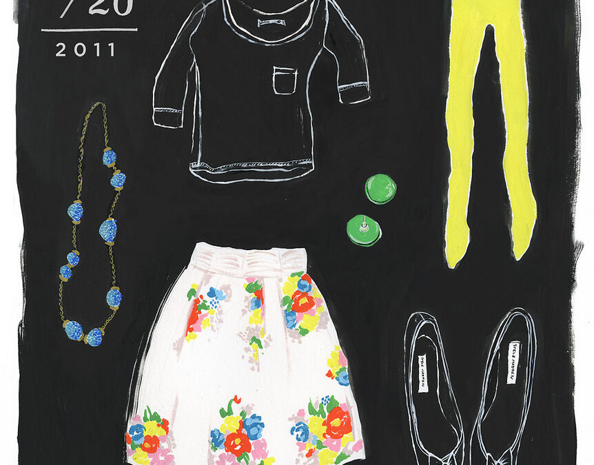 What I Wore… Illustrations by Danielle Kroll