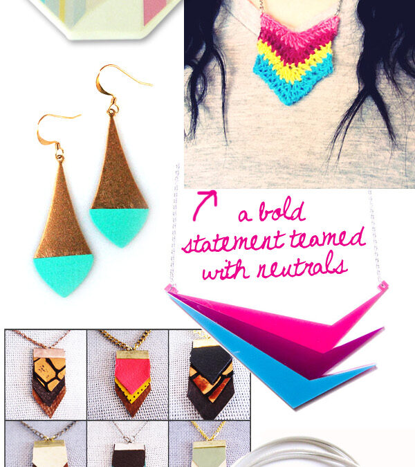 Style Focus ~ Colourful, Geometric Jewellery