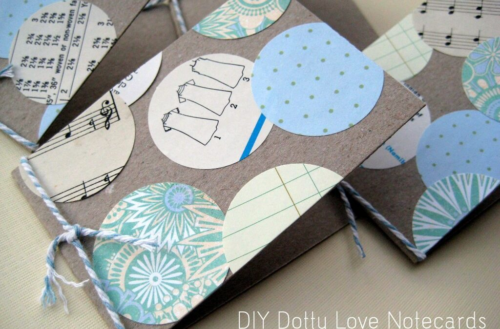 DIY Dotty Love Notecards ~ Paper Scrap Craft by Special Guest Blogger Anastasia C