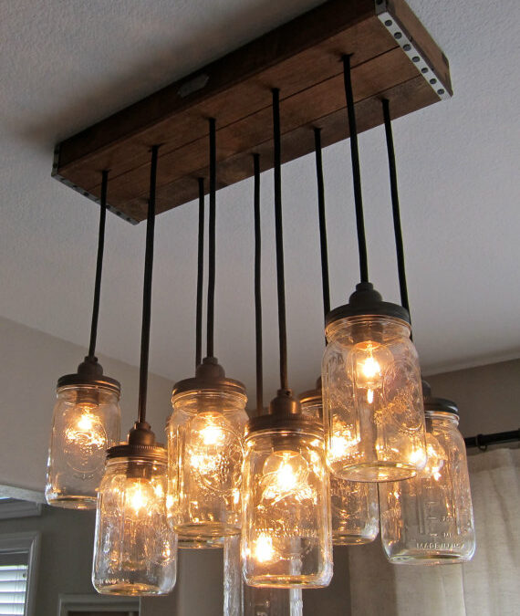 Today I Like {7/5/12} Mason Jar Chandelier